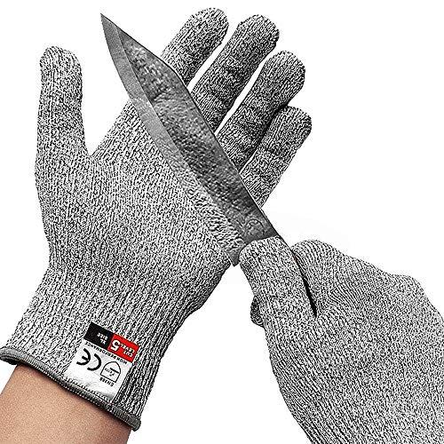 多機能カットプルーフ手袋カットプルーフスタブ耐性ステンレス鋼線メタルメッシュ台所カットプルーフ手袋 (Size : M)