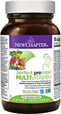 New Chapter Perfect Prenatal Vitamins Fermented with Probiotics + Wholefoods + Folate + Iron + Vitamin D3 + B Vitamins + Organic Non-GMO Ingredients - 270 ct (Packaging May Vary)