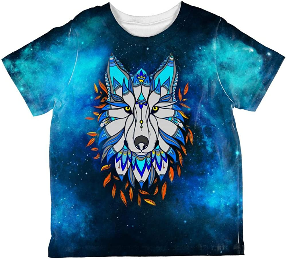 Totem Wolf is My Spirit Animal All Over Toddler T Shirt