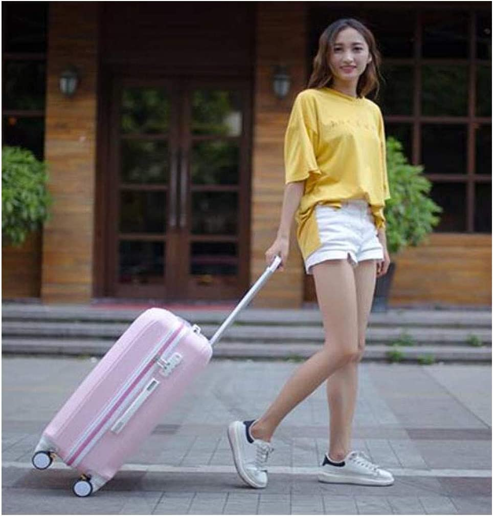 cm 37 23 55 Suitcase for Student Travel Short-Term Lightweight Hard Shell TSA Suitcase Color : Rose Gold, Size : 151022 inch Size, Black