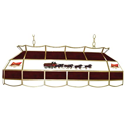 Amazoncom Budweiser Clydesdales Tiffany Gameroom Lamp - Budweiser clydesdale pool table light