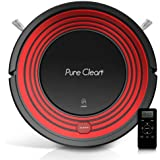 PureClean Robot Vacuum Cleaner with Programmable Self Activation and Automatic Charge Dock - Robotic Auto Home Cleaning for Clean Carpet Hardwood Floor - HEPA Pet Hair & Allergies Friendly - PUCRC95