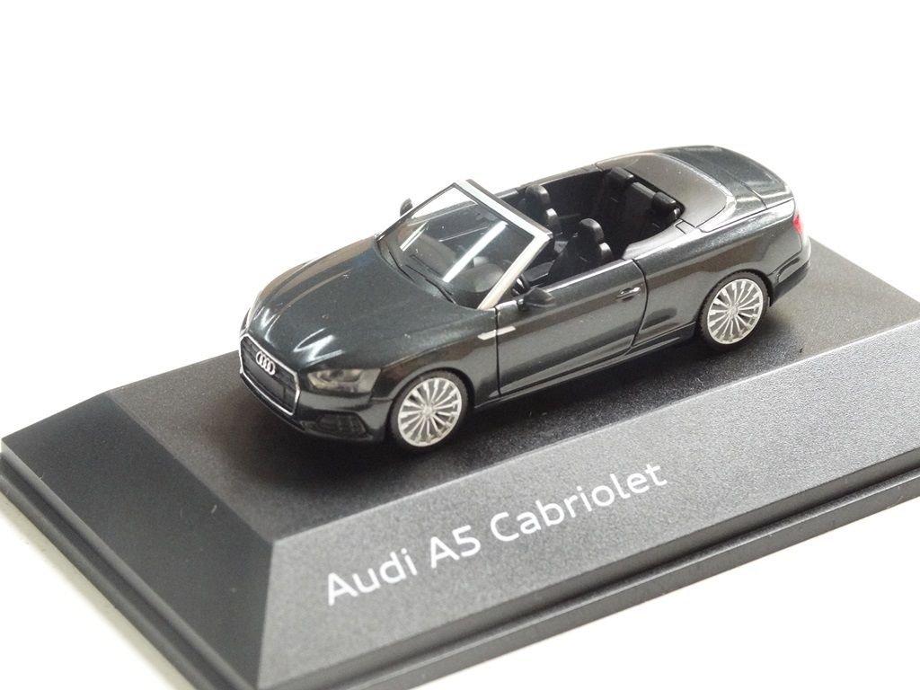 Original Audi A5 Cabriolet Modellauto 1:87 Modell 2017 Manhattangrau Grau