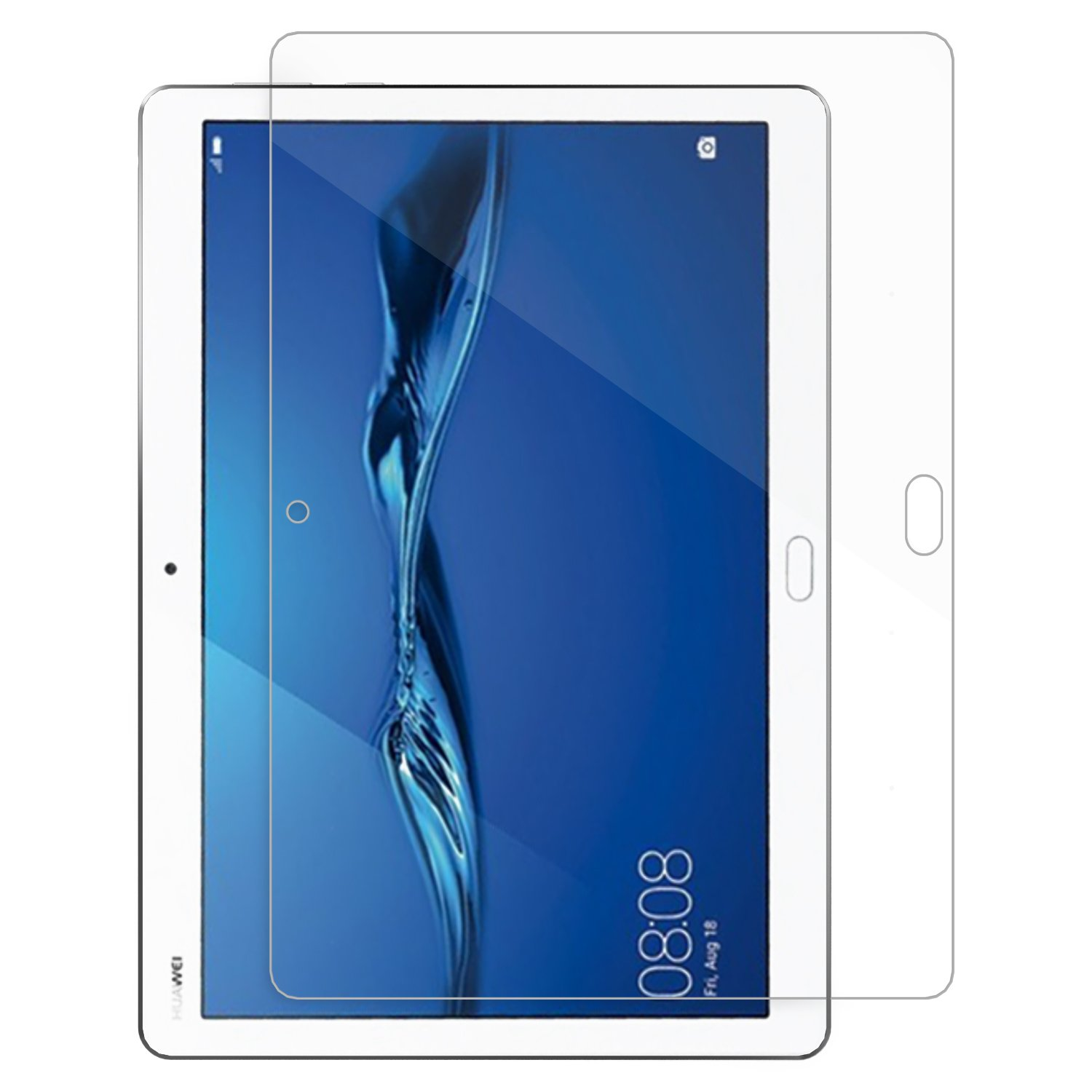 Huawei MediaPad M3 Lite 10.0 Tempered Glass Screen Protector, MoKo [Scratch Terminator] HD Clear 0.33mm Shatter Proof Glass Screen Film for Huawei MediaPad M3 Lite 10'' Tablet,