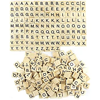 Goodlucky 300 Pcs Wooden Letters Replacement Tiles Wooden Letters