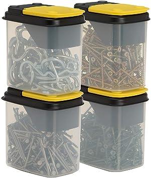Cajas de almacenamiento de tornillos resistentes para clavos, tornillos y herramientas: Amazon.es: Bricolaje y herramientas