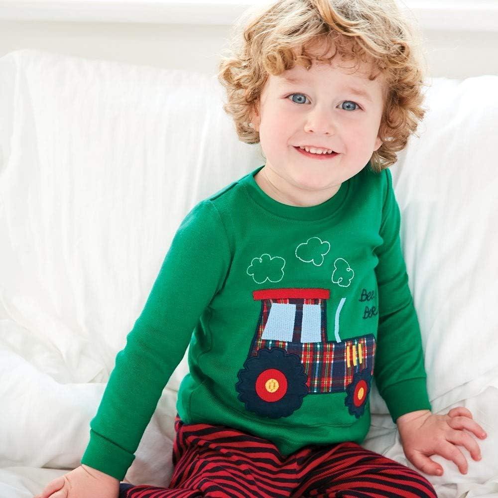 Gorboig Boys 2 Piece Pajamas Sleepwear Set Shirt/&Leggings Kid Children snug Cute