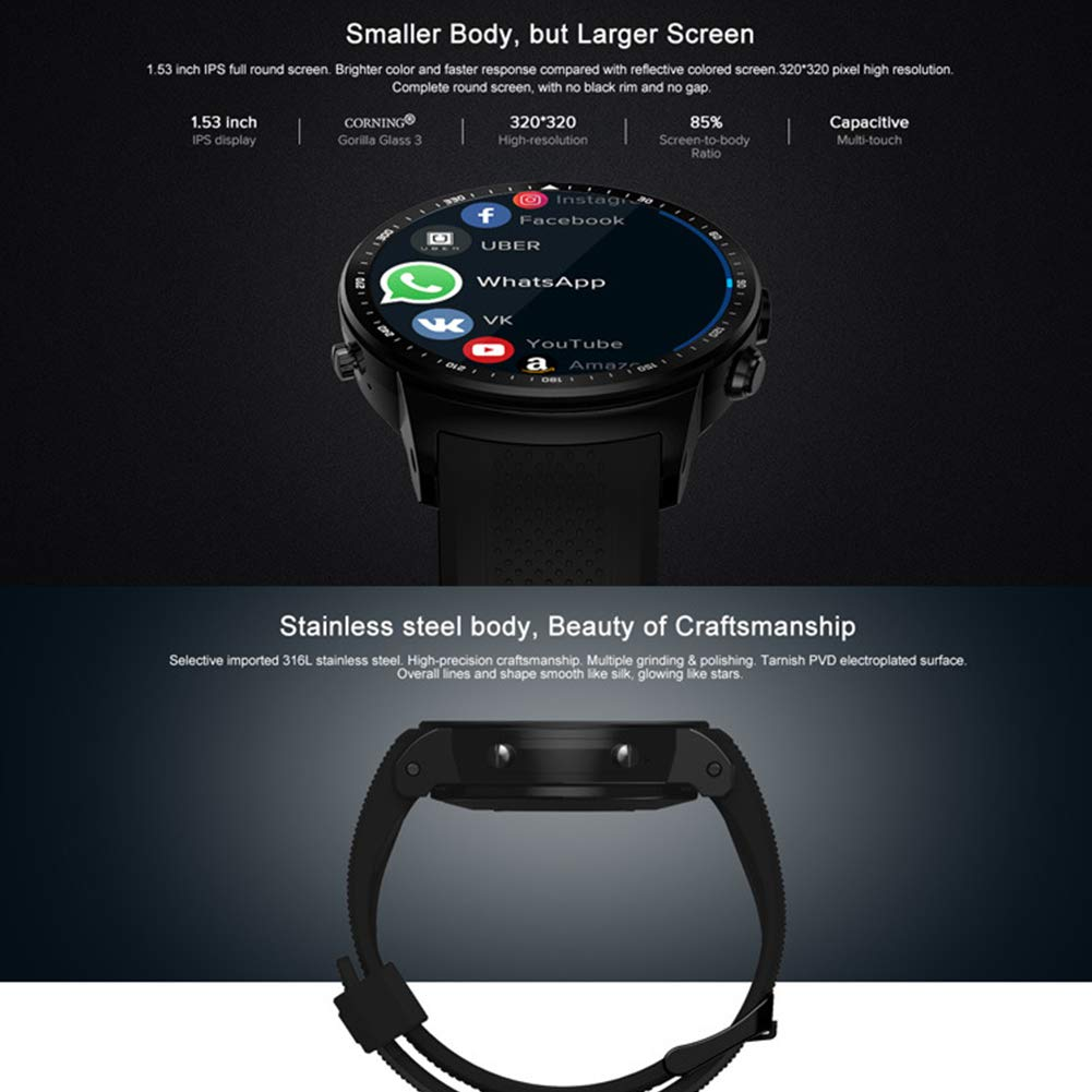 Zeblaze Thor PRO 3G GPS Smartwatch, 1.53inch IPS Touch ...