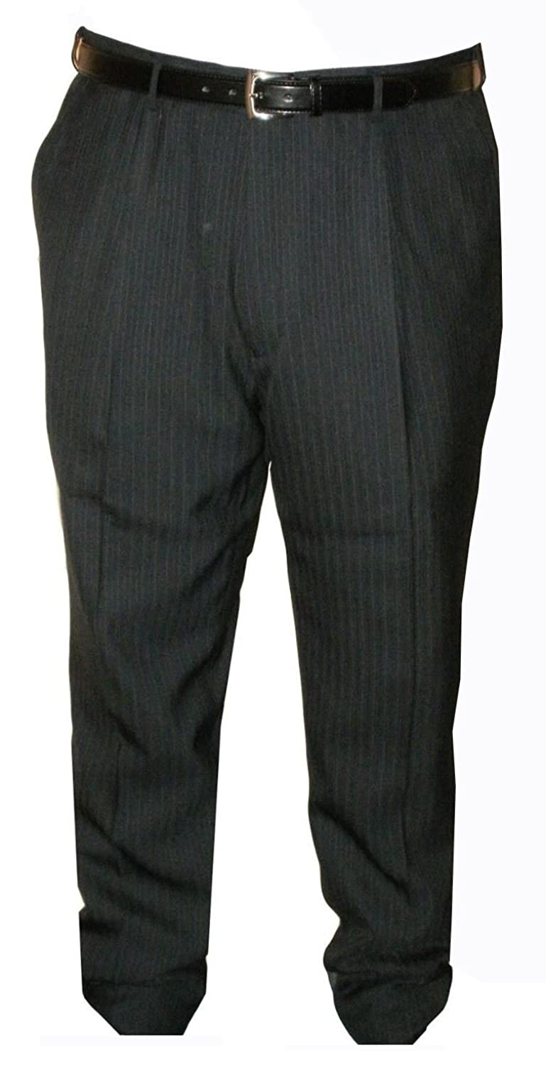 """MENS POLY VISCOSE SOFT FABRIC PLEATED FRONT SUIT TROUSERS (CARTER) IN WAIST 30 TO 60"""" & INSIDE LEG 29/31"""