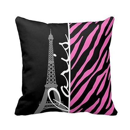 Amazon Paris Pink Black Zebra Print Throw Pillow Case Mesmerizing Pink Zebra Print Decorative Pillows