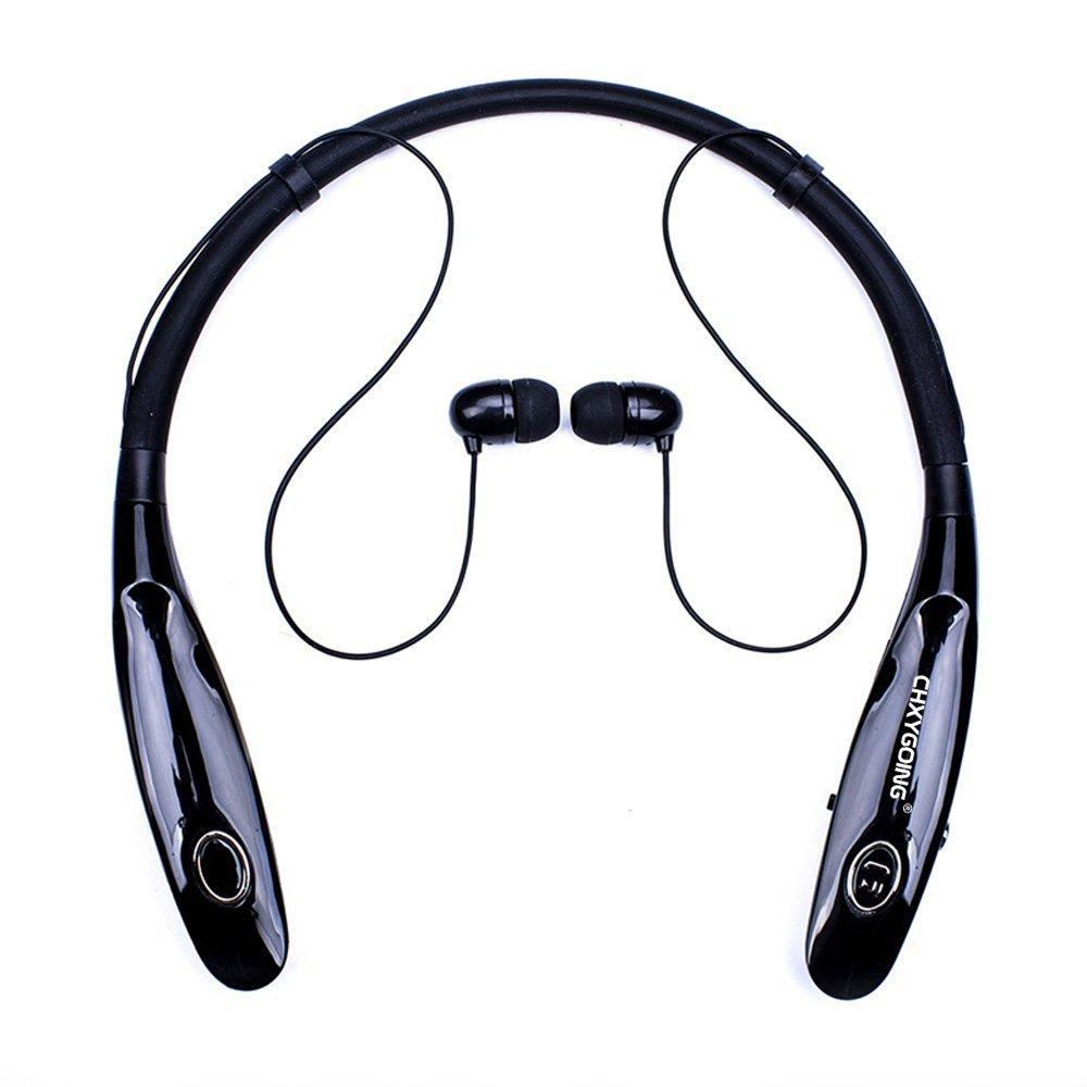Auriculares Bluetooth, YaYinKeJi Auriculares Deportivos inalámbricos, Largo Standbye 200 Horas, Auriculares con banda para el cuello Micrófono Adecuado para iPhone, iPad, Samsung, Android y otra Smartphones (Negro) YaYinKeJi 3-3