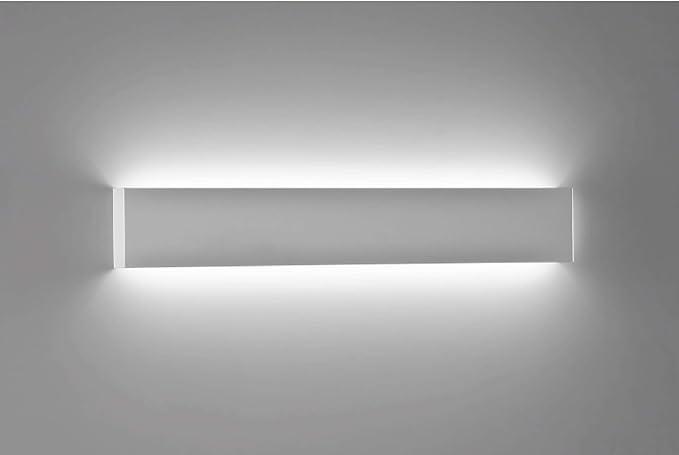 Lampada da parete applique bianco led moderno w k cm