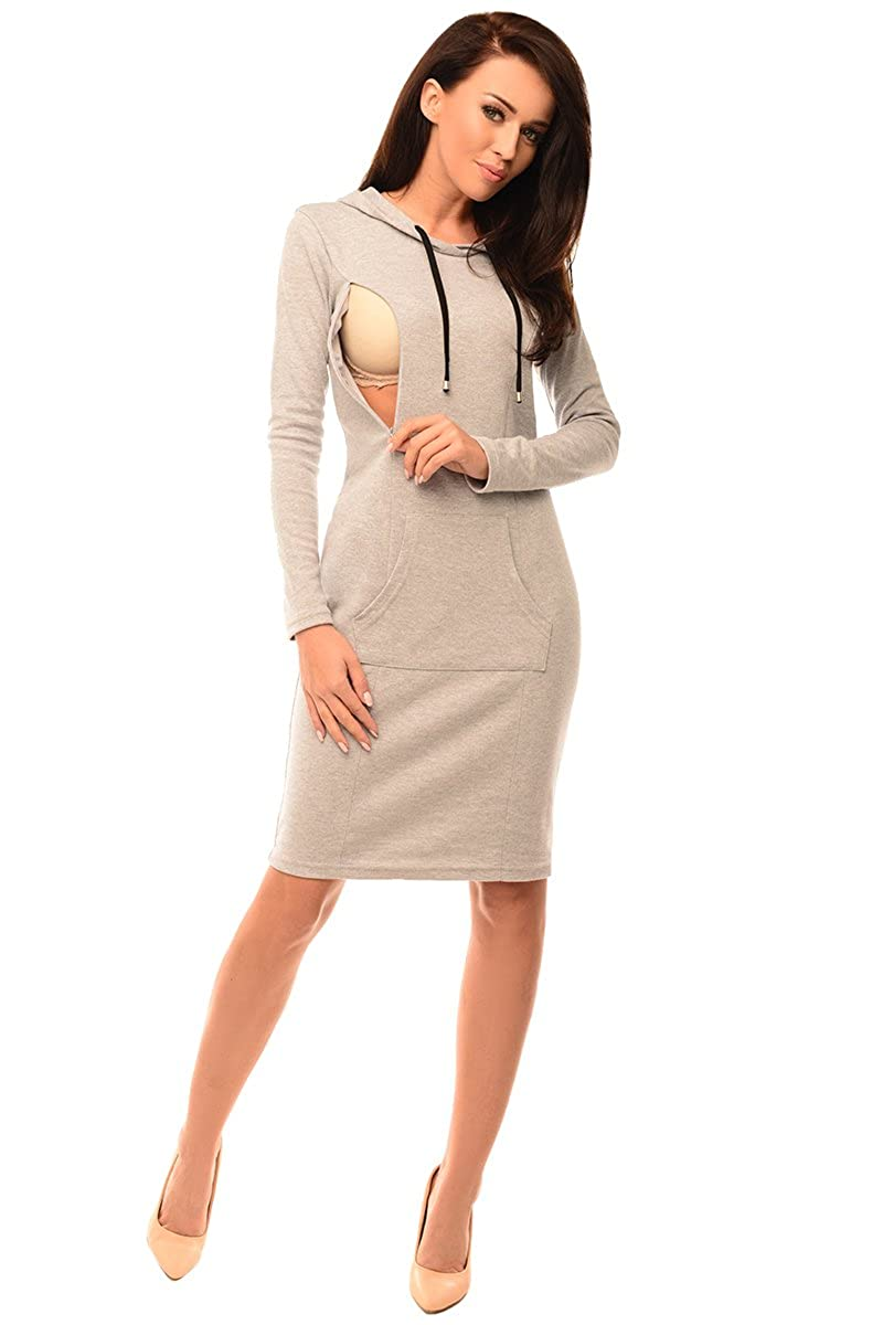 Purpless Maternity 2in1 Pregnancy   Nursing Dress Hooded Kangaroo 6211 at  Amazon Women s Clothing store  1568bc4d49c