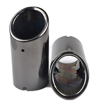 RunQiao 2 x Extremos de Tubos de Escape In Acero Inoxidable 304 Silenciador Terminales Embellecedores de