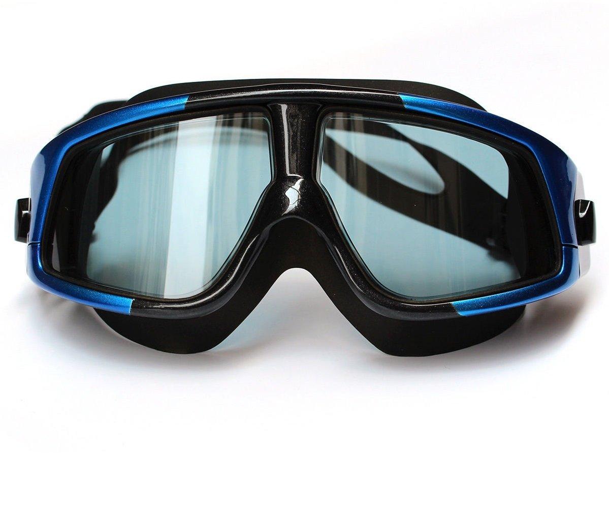 BK + B Swimゴーグル水泳大きなフレームクリアレンズゴーグル大人用マスクメガネ B072KHKMNT