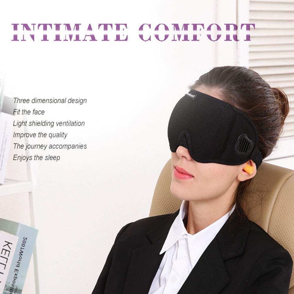 HLDWXN Antifaz para Dormir para Hombres y Mujeres, máscara de Ojo para Dormir, 3D Contorneado cómodo Ultra Suave Dormir máscara de Ojos y Venda con Correa ...