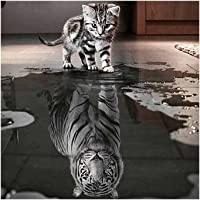 myonly 5d DIY Diamond bordado painting-cat Reflexión y Tiger pintura by-number Kit de punto de cruz Home Wall Decor Craft