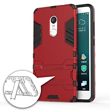 GERMAN TECH Cool Shield - Funda híbrida para Xiaomi Redmi Note 4X, Color Rojo