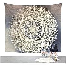 white grey tapestry. Black Bedroom Furniture Sets. Home Design Ideas