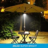 AMIR Rechargeable Patio Umbrella Lights, Cordless