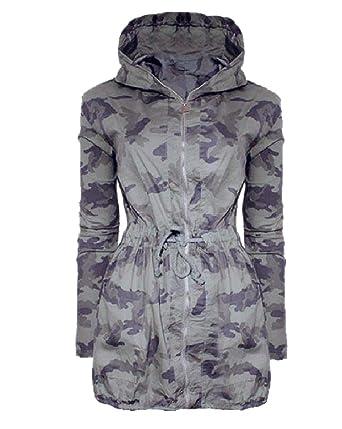 VITryst - Chaqueta de Lluvia para Mujer, Estilo Militar ...