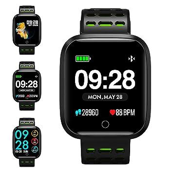 KUNGIX Smartwatch,Q8 Reloj Inteligente,Pulsera Actividad Inteligente para Deporte, Reloj Iinteligente Hombre Mujer niños, Reloj de Fitness con podómetro ...