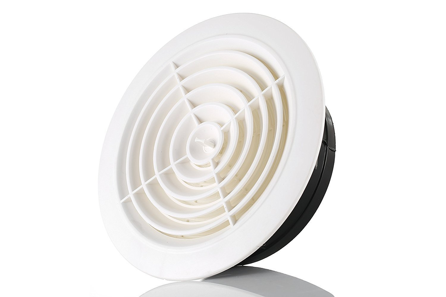 HG POWER 8 Inch Round Air Vent ABS Louver White Grille Cover Adjustable Exhaust Vent Fit for Bathroom Office Kitchen Ventilation
