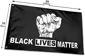 Iuqyzqzaza Black Lives Matter I Can't Breathe Garden Flags 3'x5' Black White Equality Outdoor Flags for George Floyed Flag for Garden House Home Decor
