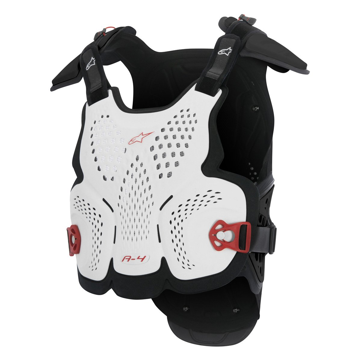 Alpinestars Men's A-4 Chest Protector (White/Black/Red, X-Large/XX-Large) by Alpinestars