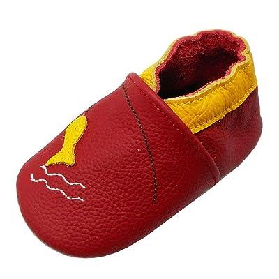nouveaux styles 14470 e3a91 Yalion Chaussures Bebe en Cuir Souple - Garçons Et Filles ...