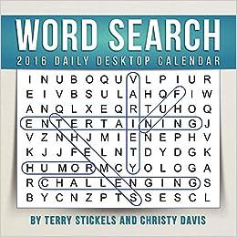 2016 Word Search Daily Desktop Calendar