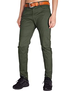 f94e506f34f9 ITALY MORN Casual Pants for Men Classic Relaxed Fit Stretch Khaki