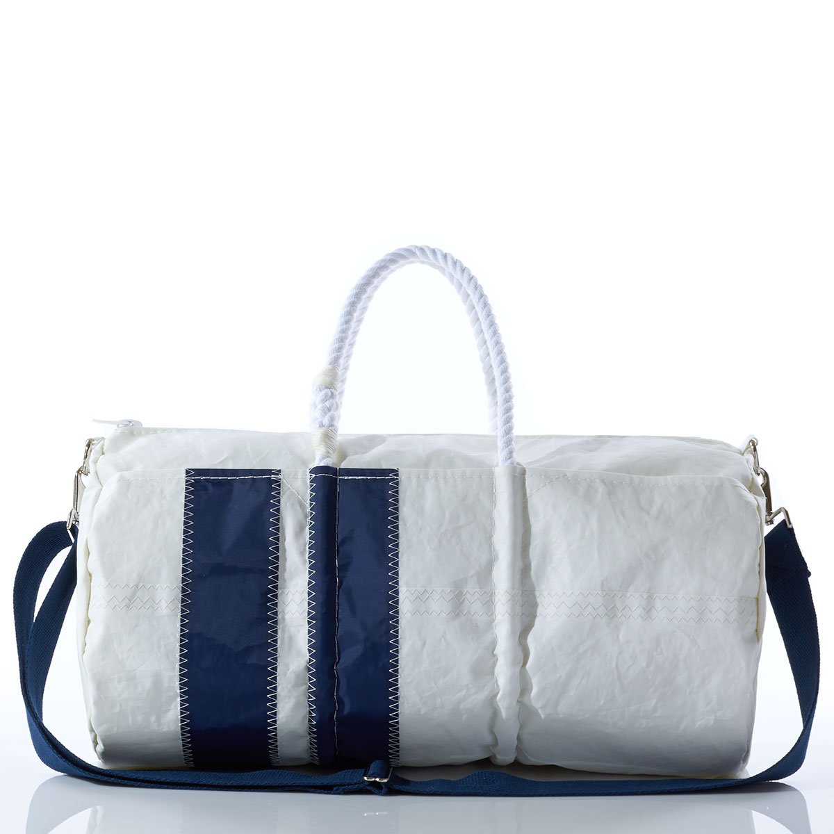 Recycled Sail Cloth greenical Stripe Duffel with Rope Handles