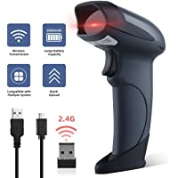 Yohoolyo Wireless and Wired 1D Barcode Reader with 2000mAh Built-in Battery