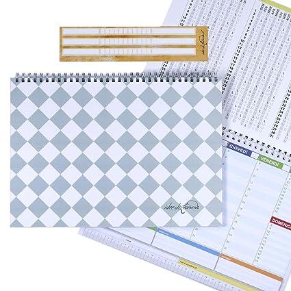 Campus Siena white- Planner Semanal 30 X 21 - Agenda Planner ...