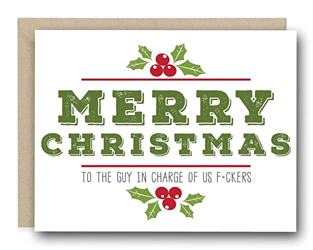 Amazon funny christmas greeting card for boss to the guy in funny christmas greeting card for boss to the guy in charge of us f m4hsunfo