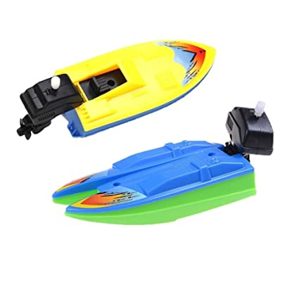 2 Pcs Swimming Boat Wind Up Bath Toys Floating Wind Up Bathtub Fun Boats  Toys