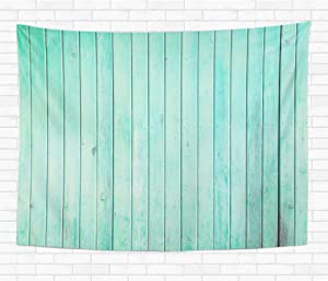 Assp Tapestry Green Wall Mint Painted Wood Panels Color Aqua Pastel 60x80 Inches Home Decorative Wall Hanging Tapestries for Living Room Bedroom Dorm