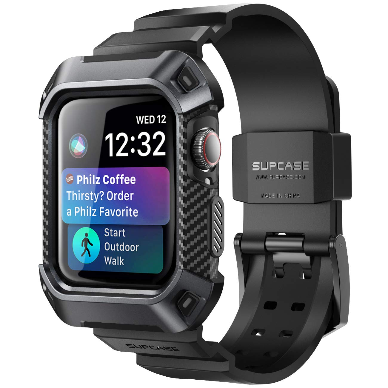 separation shoes de063 48dc4 SUPCASE Rugged Protective Case for Apple Watch 4, 44mm 2018, with Strap  Bands for Apple Watch Series 4 [Unicorn Beetle Pro] (Black)