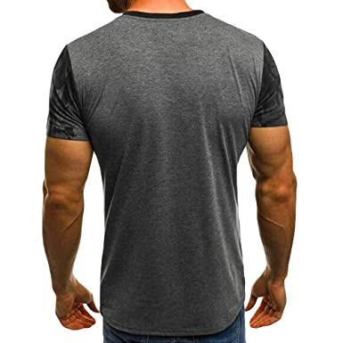 8c23161e93e8 Amazon.com: Slim fit t Shirts for Men Short Sleeve Crew Neck Muscle ...