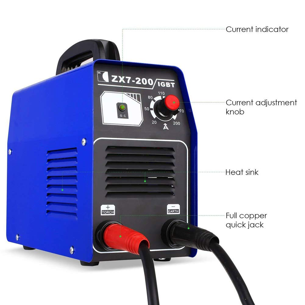 Niome ZX7-200 IGBT Inverter Welder Machine MMA Continuous Portable Manual Welding Equipment 220V