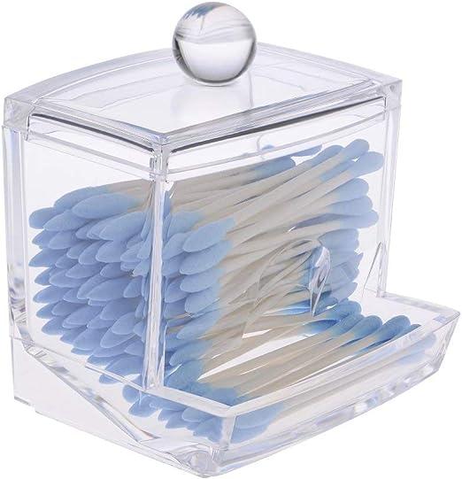 BSGP 1 Paquete de Bolsas de algodón con Forma de bastoncillos para Guardar Maquillaje, Organizador dispensador, Transparente: Amazon.es: Hogar