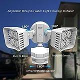 SANSI LED Security Motion Sensor Outdoor Lights, 30W (250W Incandescent Equivalent) 3400lm, 5000K Daylight, Waterproof Flood Light, ETL Listed, White