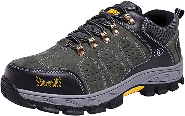 Steel-Toe Cap Athletic Safety Shoe