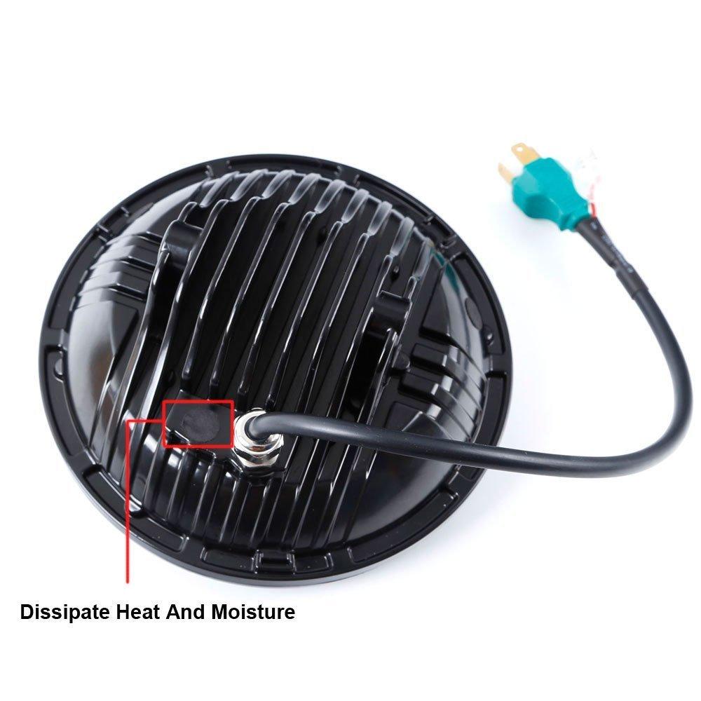 Driver side WITH install kit -Black 6 inch 100W Halogen 1995 Union City Body MT45 CLASSIC PLUS High Corner mount spotlight