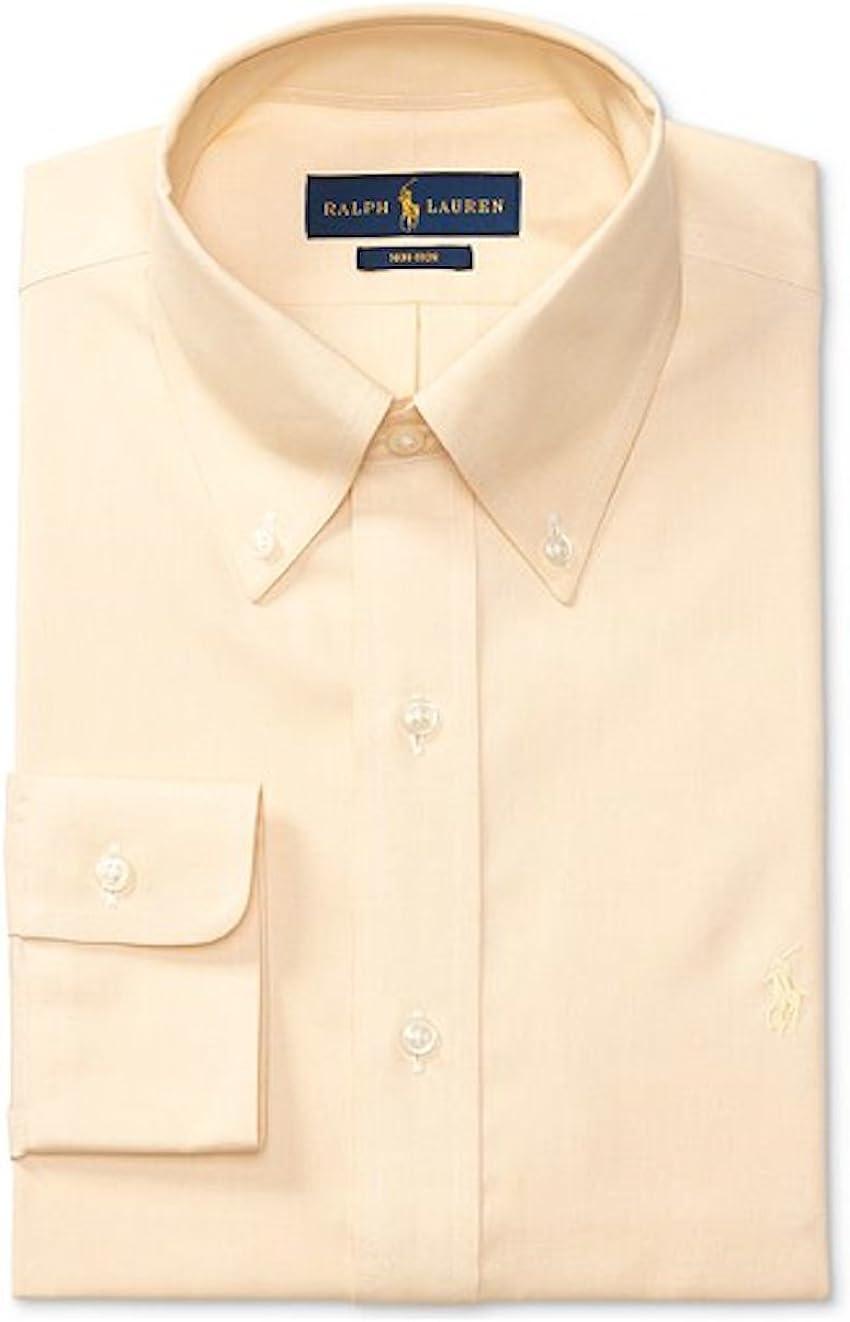 RALPH LAUREN Mens Non-Iron Long Sleeves Solid Dress Shirt