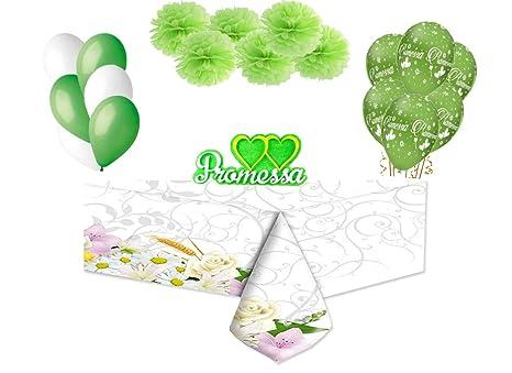 2db46716a7b5 big-party Set Decorazioni Addobbi Promessa di Matrimonio  Amazon.it ...
