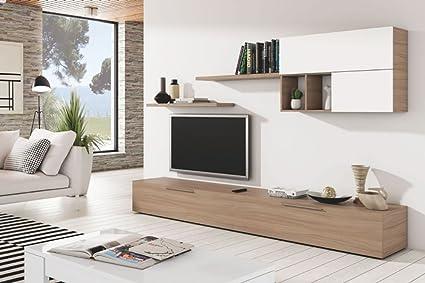 Set da soggiorno con mobile porta tv mensole arredamento ...