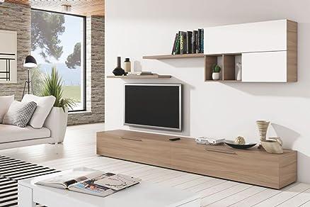 Set da soggiorno con mobile porta tv mensole arredamento casa ...