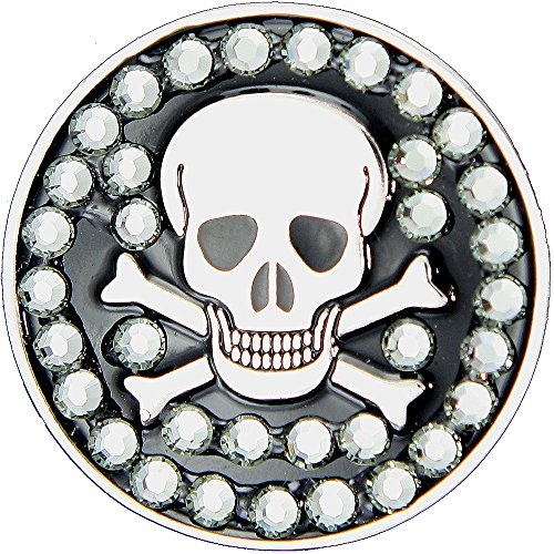 Bella Bone (Bella Crystal Collection Skull & Bones Golf Ball Marker Hat Clip)